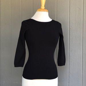 VINCE. Black U-Back Knit Top Size Small